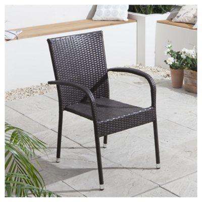 rattan garden dining chair