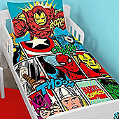 Marvel Avengers Bundle - Toddler Bedding, Curtains 54s and Fleece Blanket