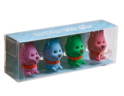 Tinc Scented Erasers (set of 4) - Dog