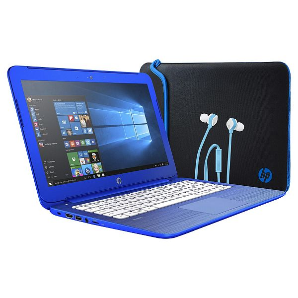 23c45a9412bf HP 13 Stream, 13-inch Laptop, Intel Celeron, 2GB RAM, 32GB - Blue ...