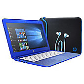 HP 13 Stream, 13-inch Laptop, Intel Celeron, 2GB RAM, 32GB - Blue (Sleeve and Headphones bundle)
