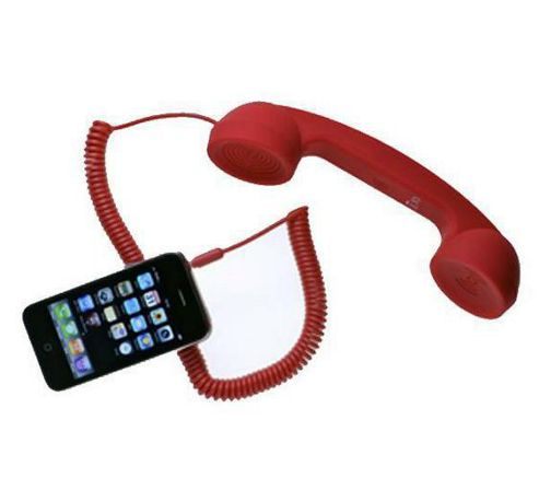 CONRAD Moshi Moshi Retro Handset for All Mobile Phones Computers - Red