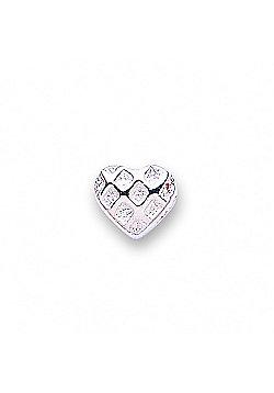Jo For Girls Fancy Silver Heart Slide On Bead