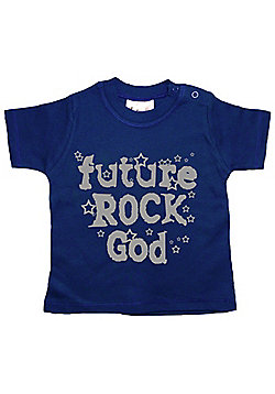 Dirty Fingers Future Rock God Baby T-shirt - Navy