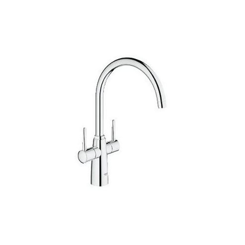 Grohe Ambi Contemporary Mono Sink Mixer Tap, Dual Handle, Chrome