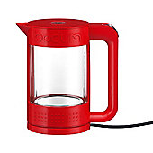 Bodum Bistro Double Wall See Through 1.1L Cordless Kettle, Red
