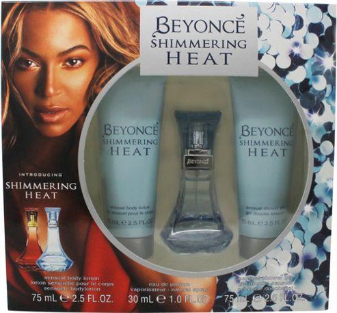 Beyoncé Shimmering Heat Gift Set 30ml EDP + 75ml Body Lotion + 75ml Shower Gel For Women