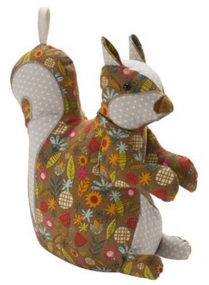 Ulster Weavers Fabric Squirrel Shaped Door Stop 8SQR35