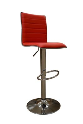 Aegean Red Faux Leather Bar Stool