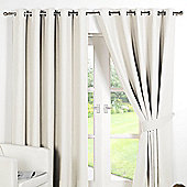 Dreamscene Ring Top Lined Pair Eyelet Thermal Blackout Curtains - Cream - Cream