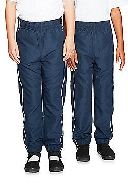 F&F School 2 Pack of Boys Non-Iron Long Sleeve School Shirts - White