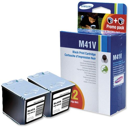 Samsung INK-M41V Black Ink Cartridge (Twin Pack)