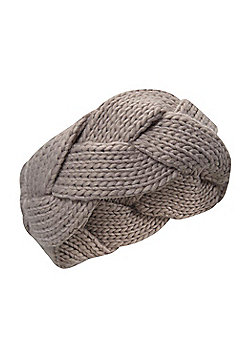 Mountain Warehouse Chunky II Womens Plaited Headband - Grey