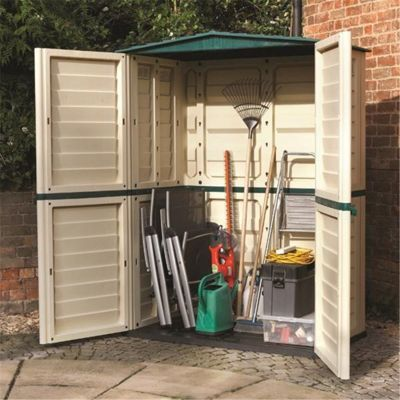 5 x 3 Plastic Tall Shed (1.51m x 0.83m) (5ft x 3ft)