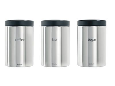 Brabantia 2041.66 Canister Set Brilliant Steel 3Pce
