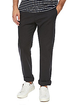 F&F Stretch Straight Leg Chinos - Charcoal