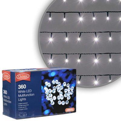 360 LED Cool White Chaser Christmas Lights