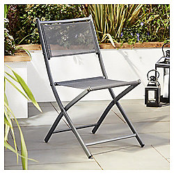Tesco Grey Mesh Fabric Folding Chair