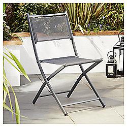 Tesco Grey Mesh Fabric Folding Chair