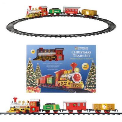 14 Piece Christmas Tree Train Set