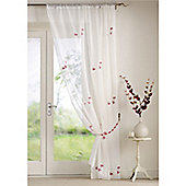 Alan Symonds Butterflies Single Voile - Red