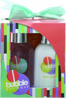 Style & Grace Bubble Boutique Mini Pamper Kit 100ml Body Wash + 100ml Body Lotion + Shower Exfoliator