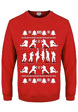 KO Men's Red Christmas Jumper - Red