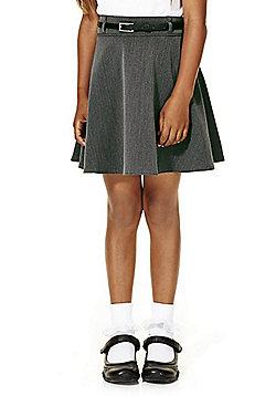 F&F School Skirt with Belt - Grey