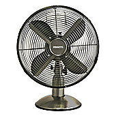 Ferretti FET-FERTDF120CP 30cm Retro Metal Desk Fan Gunmetal