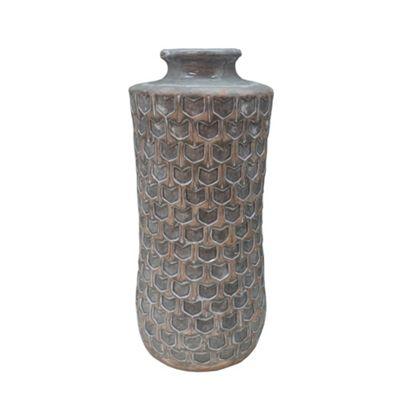 Tall Grey Mallory Vase