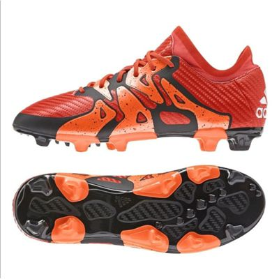 adidas X 15.1 Firm Ground / AG Junior Football Boots - Orange - 10.5k