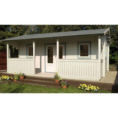 Forest Garden Harlech Log Cabin 5.0m x 4.0m Installed