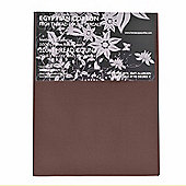 Homescapes 100% Egyptian Cotton Flat Sheet Plain 200 Thread Count - Chocolate