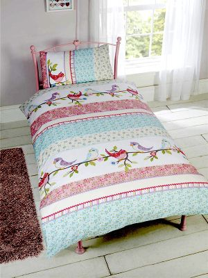 Little Birdies Single Duvet Cover Set
