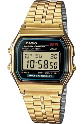 Casio Classic Unisex Gold Ion-plated Chronograph Watch A159WGEA-1EF