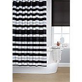Printed Shower Curtain - Black & White