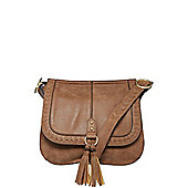 F&F Whipstich Distressed Cross-Body Bag