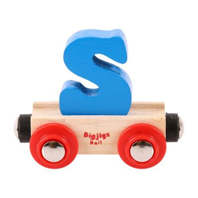Bigjigs Rail Rail Name Letter S (Blue)