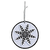 Luxury Snowflake Flitter Christmas Gift Tags, 3 pack