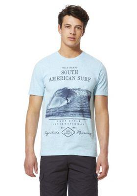 F&F South American Surf Graphic T-Shirt Blue 3XL