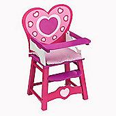 Dolls World Wooden High Chair
