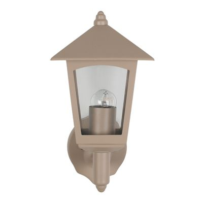 Taupe 4 Sided Lantern Outdoor Wall Light Classic Look