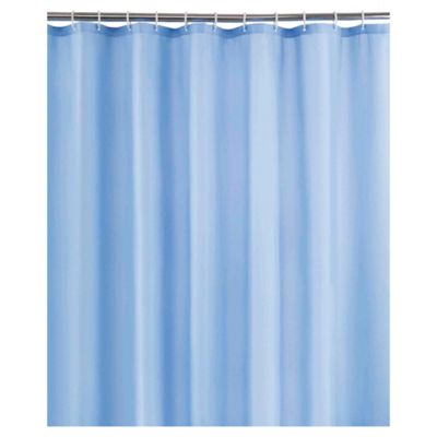 Tesco Plain Blue Shower Curtain