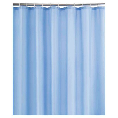 Tesco Plain Blue Shower Curtain