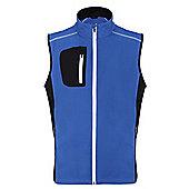 Woodworm Golf Full Zip Soft Shell Vest / Gilet - Blue
