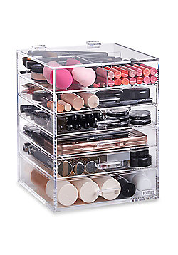 Beautify 6 Tier Clear Acrylic Cosmetic Makeup Drawers Organiser
