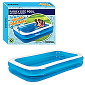 Garden Inflatable Rectangular Swimming Pool 2.62m