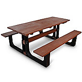 BrackenStyle Medium Rectangular Picnic Table - Red