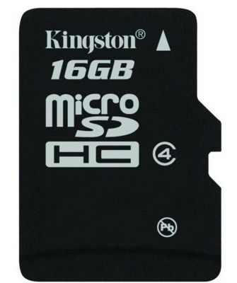 Kingston 16GB MicroSDHC Flash Memory Card