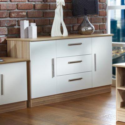 Welcome Furniture Living Room 2 Door / 3 Drawer Unit - Vanilla/Cocobola